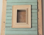 Custom order for Val for a 5x7 of this frame.  distressed vintage shabby picture frames, 4x6 inch frame opening, wainscoting, great gift ide