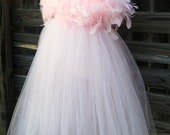 Girls Tutu Gown, Cupid's Dream, Pale Sparkle Pink, Valentine to Weddings, Infant to Toddler, Little Dixie Chicks