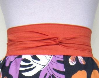 10 Dollars Off Organic Cotton Wrap Belt in Tangerine Orange