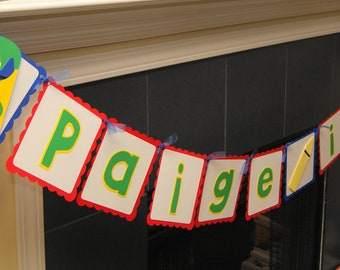 Crayon Personalized Name Age Banner