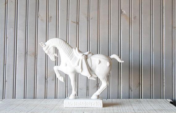 Large Ceramic Horse // Ming Style