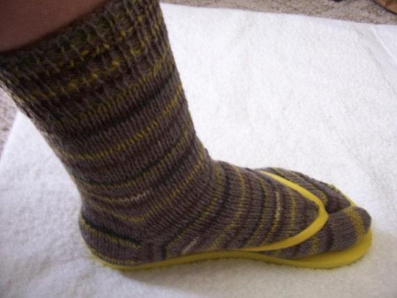 Flip Flop or Sandal socks, closed toes, toe socks, split toe socks, like having mittens for the feet