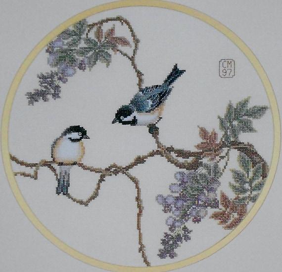 Carolyn Meacham SPRING JOY BIRDS By Serendipity Designs - Counted Cross Stitch Pattern Chart