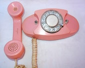 Vintage 60s Western Electric Pink PRINCESS Phone 702B. Mid Century Modern. WORKS with ringer. Rotary dial