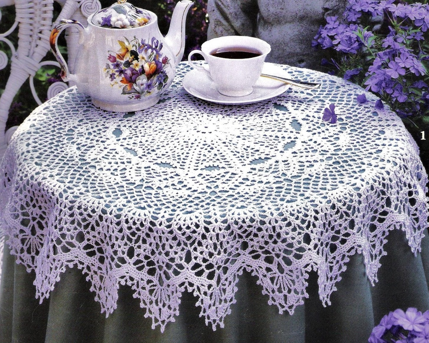 Crochet Tablecloth Pattern : Round Crochet Tablecloth Patterns Booklet by StitchySpot on Etsy