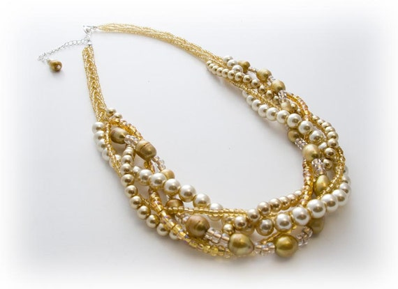 Chunky Golden Statement Necklace