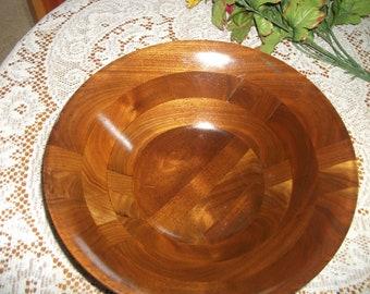 Vintage teak/walnut salad bowl - lovely color
