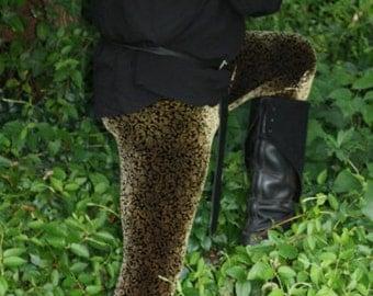 Men's Limited Edition Renaissance Floral Velvet Leggings -  Choose your size and length