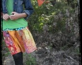 Winter/Fall skirt for 2012....Indian Summer Girls Skirt for Fall Line 2012  Boho chic/ HIppie Chic sizes 18m-12yrs