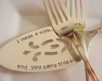 Wedding Cake Server and Forks Set