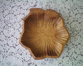 Vintage Hand carved Wooden Primitive bowl made in Sweden