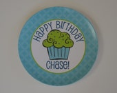 Personalized Birthday Plate - Boy or Girl - Choose Your Colors - Personalized Plate - Personalized Melamine Plate