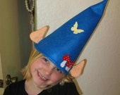 Felt Blue Gnome Hat with Ears