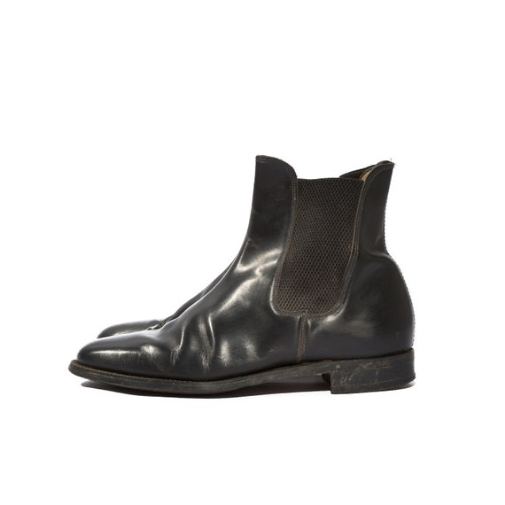 Short English Riding Boots Chelsea Ankle Boots in Black for a Women's Size 9 Wide