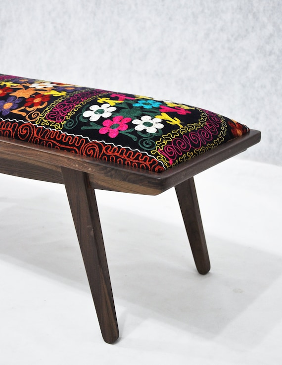 RESERVED Listing for Grace: marquis ottoman with Suzani fabrics - 1