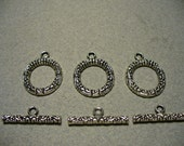 Toggle Clasp Antique Silver 17MM