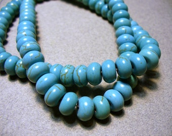 Magnesite BeadsTurquoise  Rondelle  8x5MM