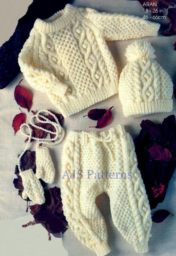 Knitting Patterns And Wool Sets : PDF Knitting Pattern for a Baby/Childs Outdoor by TheKnittingSheep