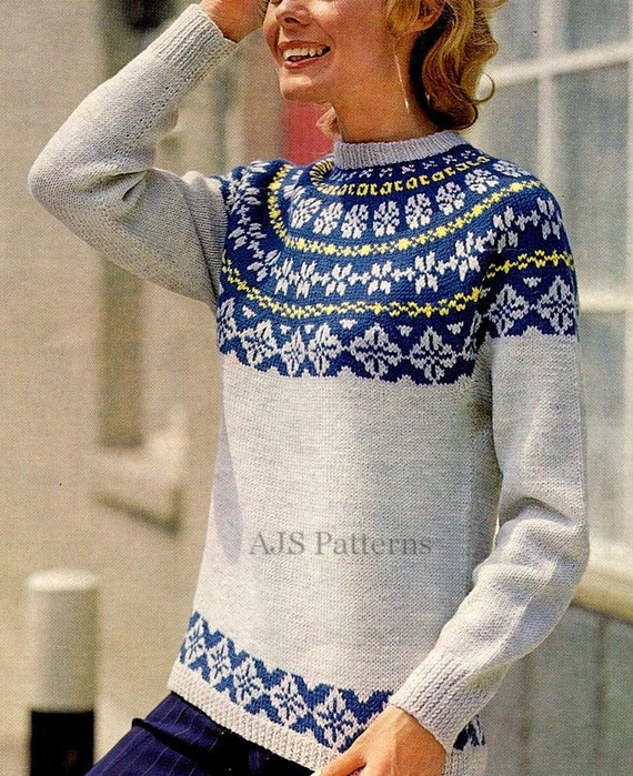 PDF Knitting Pattern for a Ladies Norwegian or by ...