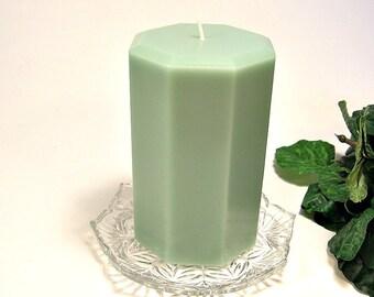 Pillar candle Cucumber Melon scent octagon shape 3x5
