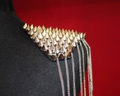 Studded Shoulder Silver Pad Epauletes Punk Rock Steampunk