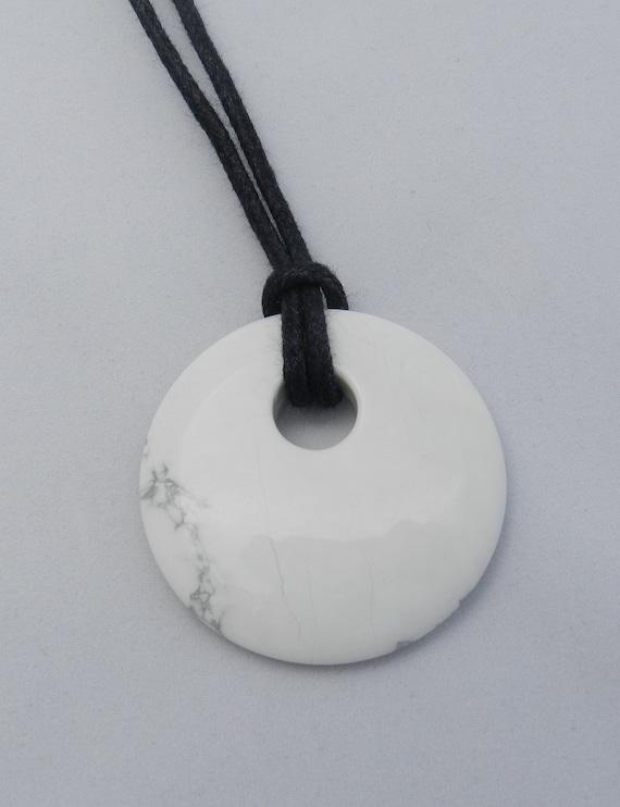 SALE Nursing Necklace - White Howlite Stone Pendant
