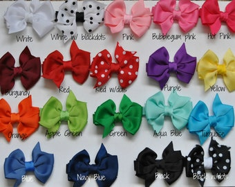Baby Hair bows-You CHOOSE colors, Infant hair bows, Toddler hair bows, Non slip hair bows, Small hair bows, 2 inch hair bows, Baby hair bows
