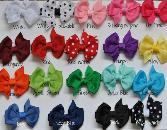 Baby Hair bows-You CHOOSE colors,Infant hair bows, Toddler hair bows, Non slip hair bows, Small hair bows, 2 inch hair pos, Baby hair bows