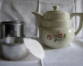 Vintage Drip O Lator Coffee Pot Superior Quality Flowers Lid Pot Basket Filter
