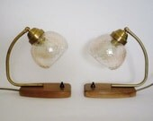 RESERVED - Pair of Mid Century Bedside Lamps