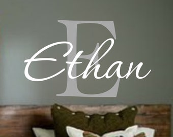 Name Decal   Personalized Monogram Kids Wall Decals   Boys Wall Decal  Name  Vinyl Lettering