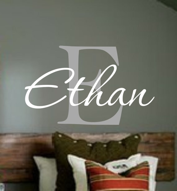 personalized monogram kids wall decals boys wall decal name