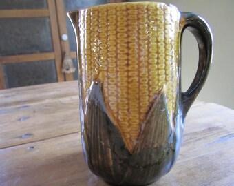 Antique Vintage Corn Pitcher Rustic Fall Autumn Country Farmhouse Kitchen