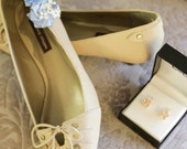 Custom Listing - 1 Sky Blue, Baby Blue, and Ivory Shoe Clip