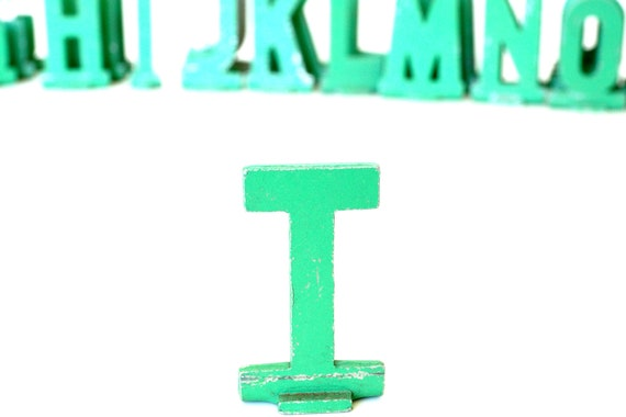 """Vintage Metal Sign Letter """"T"""" (1-13/16 inches tall) with Base - Industrial Decor, Art Supply, and more"""