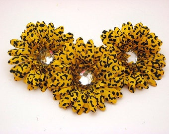 "Yellow Cheetah 4"" Gerber Daisy (set of 3)was 2.70"