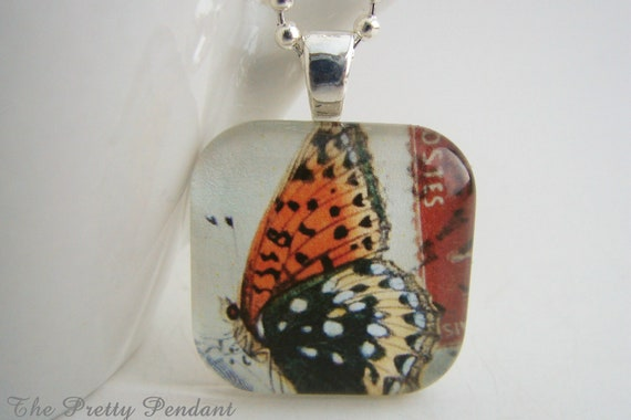 Butterfly Pendant with Free Necklace