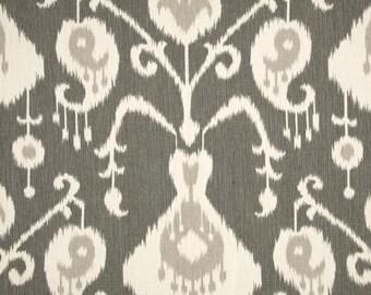 Window Curtains, custom drapes, very elegant, Java Ikat, pleated rod top