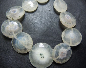 Solar Quartz Faceted Coin Beads Gemstone  AAA Quality  8 inches  Size -15mm to 18mm Approx Wholesale