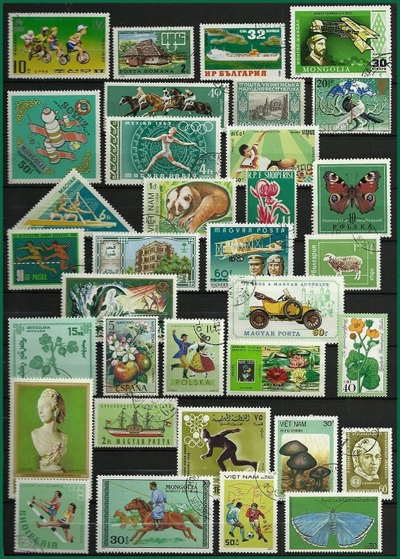 Vintage Postage Stamp Craft