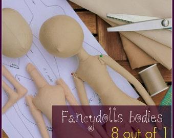 Cloth Doll Sewing Pattern & Tutorial Fancydolls bodies PDF  8 out of 1 DIY