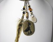 Petroglyph and Feather Necklace