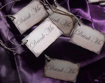 DrINk Me TAgS Set of 12 made to order