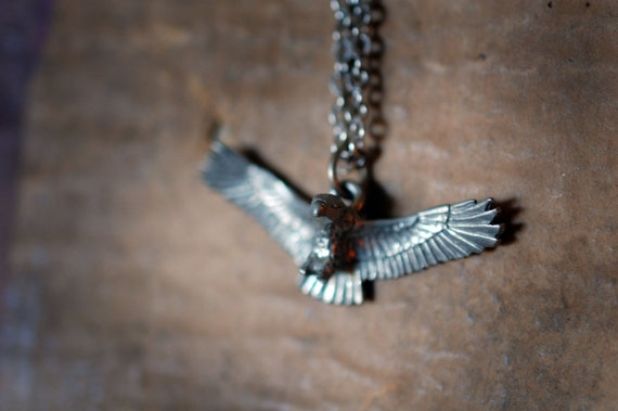 SIlver Pewter Eagle Necklace