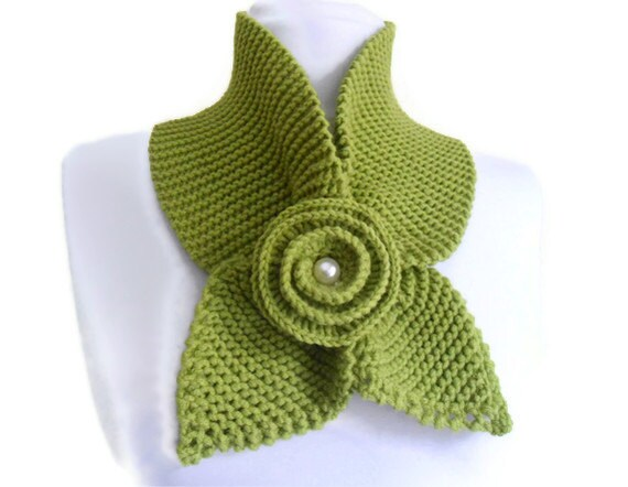 Apple green , neckwarmer,shawl,scarf,knitting,Holiday Accessories,Christmas,Halloween,gift