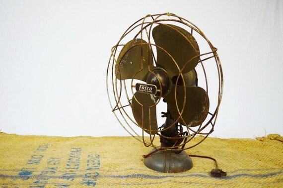 Vintage Mid Century Industrial Metal Fan - FASCO ArcticAire