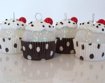 Christmas Ornament, Cupcake Ornament, Mini Ornament Set