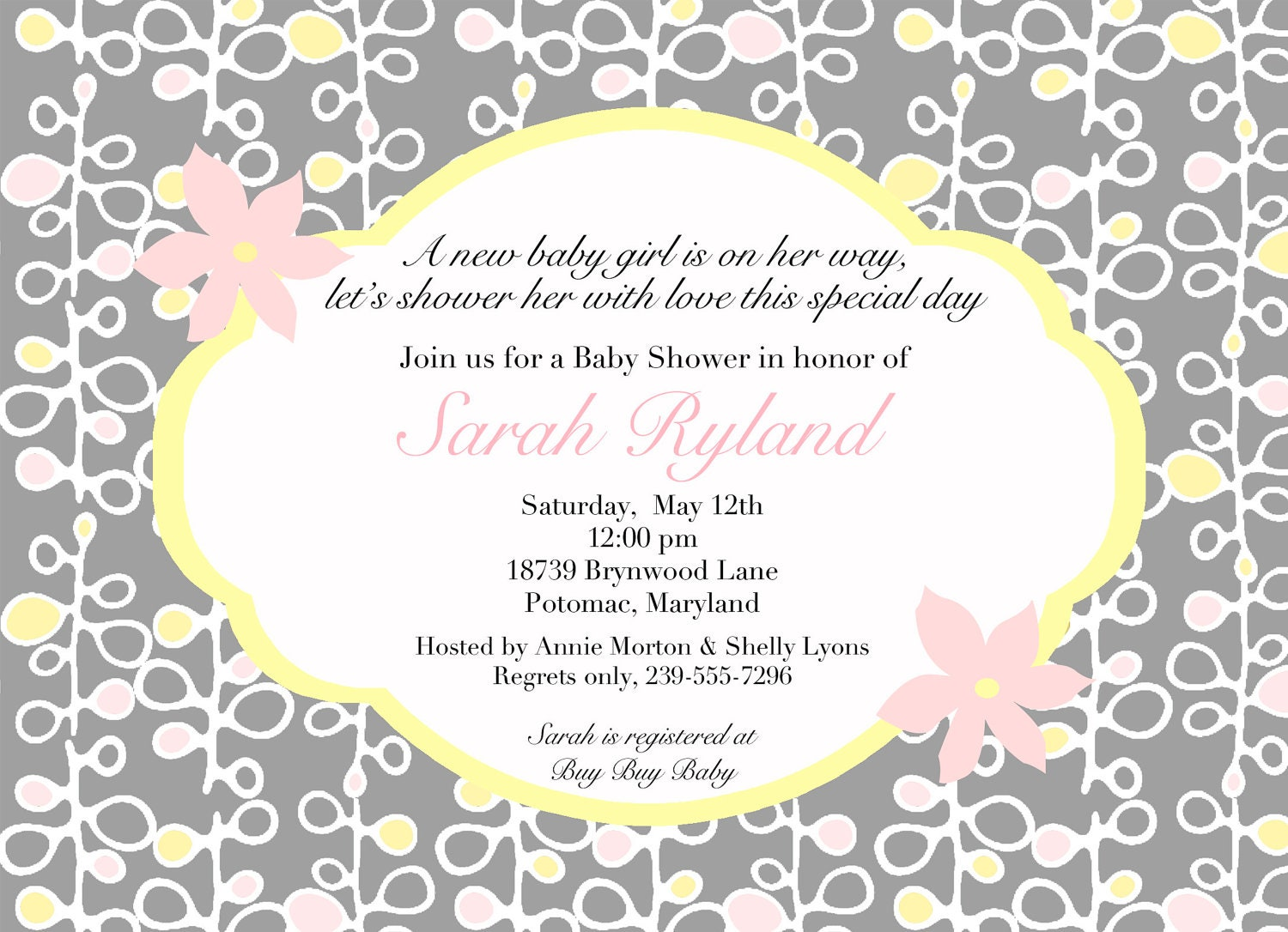 Baby shower invite words etamemibawa baby shower invite words filmwisefo Image collections