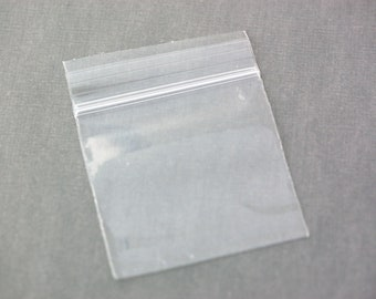 "100 Zipper Lock Resealable Baggies 3x3"" 3x3 inches, 2 mil bags, for bangle bracelets, bag0041"