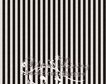 "54""x5' Photography Backdrop Black & White Striped heavyweight matte vinyl - Wedding Backdrop - Kate Spade look"